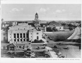 Auditorium, Cenotaph, Parliament Buildings and University Building, Winnipeg, Manitoba