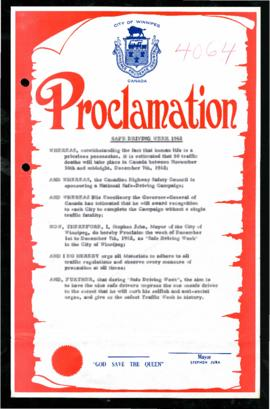 Proclamation - Safe Driving Week 1962