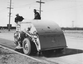 Street cleaning machine from the Elgin Corp, May 1, 1953