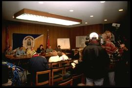 City Hall - mayor's press conference
