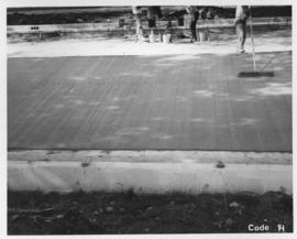 Pavement construction Project H, Jubilee Avenue (between Osborne Street and Cockburn Street), July 18, 1963