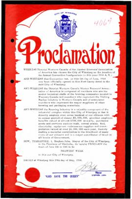 Proclamation - Brewers' Week