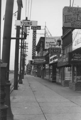 Overhanging Signs: North side of Portage Avenue looking West from Young Street