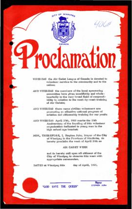 Proclamation - Air Cadet Week