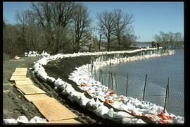 1997 flood - Red River Drive - dike