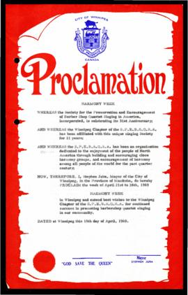 Proclamation - Harmony Week