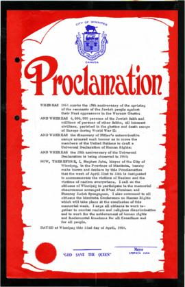 Proclamation - To Commemorate the Victims of Nazism and the Victims of Racism Everywhere