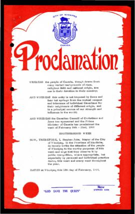 Proclamation - Brotherhood Week