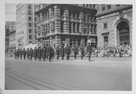 R.C.M.P. procession, Winnipeg's 75th Anniversary Parade