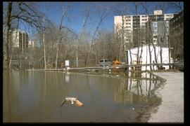 1997 flood - 21 Roslyn Road - viewing east