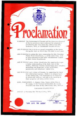 Proclamation - Canadian Police Week