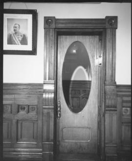 Interior view of City Hall showing doorway