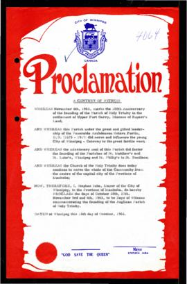 Proclamation - A Century of Witness