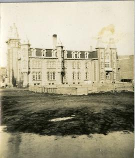 Scrapbook of Corporal Wallace – loose photo of St. Paul's College