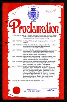 Proclamation - Canada's Sport Centre
