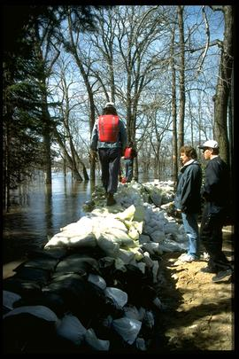 1997 flood - Rue St. Pierre at the La Salle River
