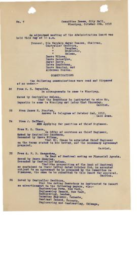 GWWD Board of Administration Minutes, numbers 32-37