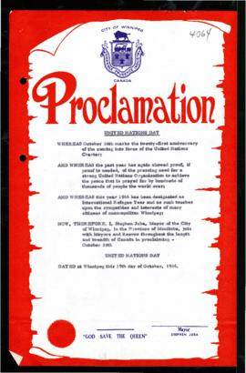 Proclamation - United Nations Day