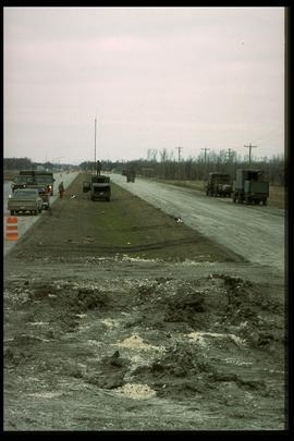 1997 flood - Highway 75 - north view from dike
