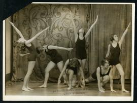 Betty Parker and other dancers in costume