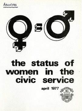 The Status of Women in the Civic Service / City of Winnipeg