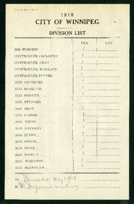 Council voting card