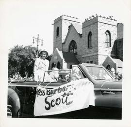 Winnipeg's 75th Anniversary parade - Olympic figure skating champion Barbara Ann Scott