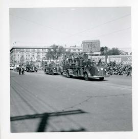 Winnipeg's 75th Anniversary parade - fire trucks