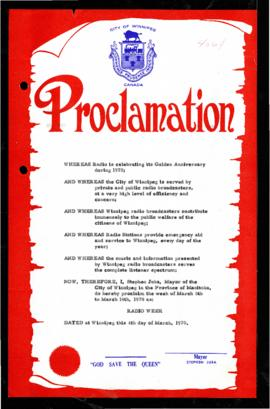 Proclamation - Radio Week