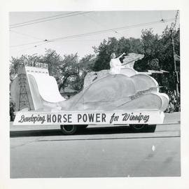 Winnipeg's 75th Anniversary parade - City Hydro float