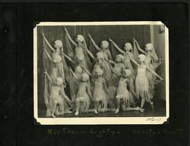 "Dancers portraying the Northern Lights performing ""Beauty and the Beast"""