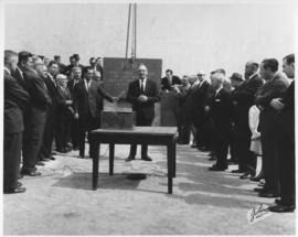 No. 9 - Laying of the cornerstone at new City Hall, May 15, 1964 (shows casket on table)