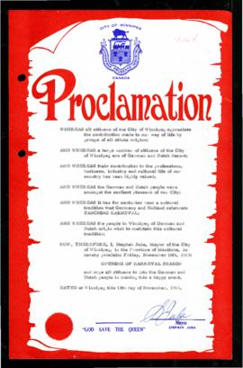 Proclamation - Opening of Karneval Season