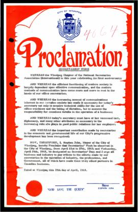Proclamation - Secretaries' Week