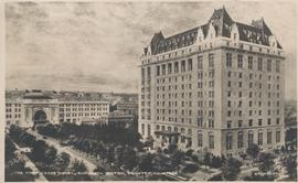 The Fort Garry Hotel and Union Station, Winnipeg, Manitoba