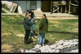 1997 flood - Scotia Street - homeowner and receding water