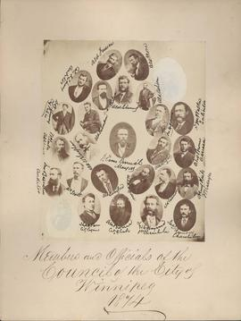 Members and Officials of the Council of the City of Winnipeg, 1874