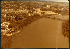 Aerial of 1974 Flood – Pritchard Avenue Boat Dock and Redwood Bridge