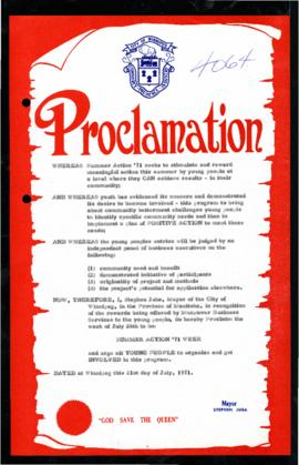 Proclamation - Summer Action '71 Week