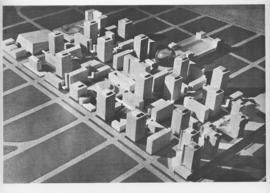 Downtown Winnipeg - Model photo of Downtown Plan (side view)