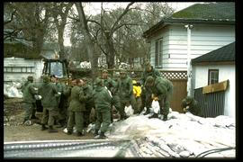 Scotia Street - military personnel removing dike