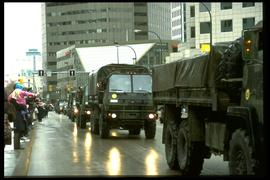 Portage Avenue - military parade