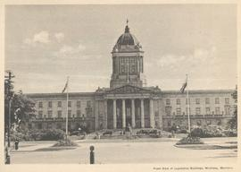 Front view of Legislative Buildings, Winnipeg, Manitoba