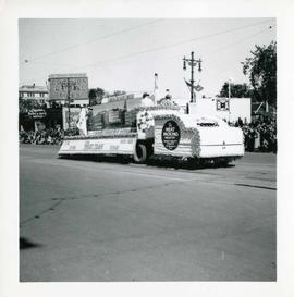Winnipeg's 75th Anniversary parade - meat packing industry float