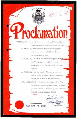 Proclamation - Junior Achievement Week