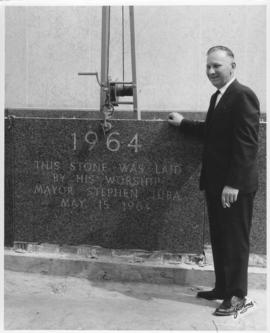 No. 12b - Laying of the cornerstone at new City Hall, May 15, 1964 (shows Mayor Stephen Juba and ...