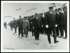 Mayor McLean and Chief Newton inspecting Police Force