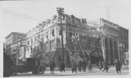 Another view of Drug Store [Dunlop Drug Store] and the Blue Store soon after fire - January 25, 1918