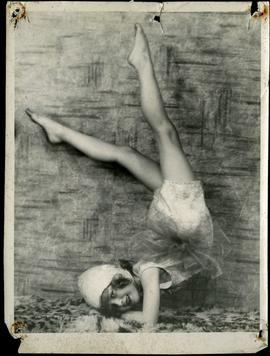 Gladys Yule, the youngest acrobatic dancer in Western Canada