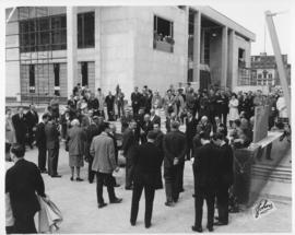 No. 5 - Laying of the cornerstone at new City Hall, May 15, 1964 (shows Civic Complex under const...